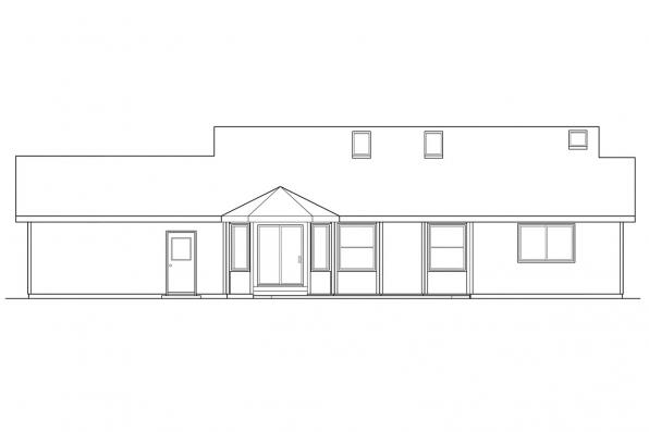 Small House Plan - Rigdon 30-090 - Rear Elevation