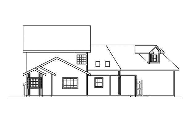 Small House Plan - Shaffer 30-453 - Rear Elevation