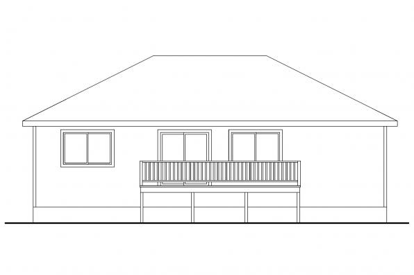 Small House Plan - Tyson 30-495 - Rear Elevation