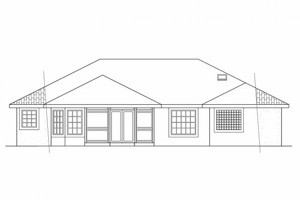 Small House Plan - Verona 11-074 - Rear Elevation