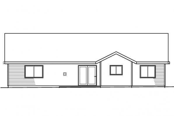 Small House Plan - Walsh 30-247 - Rear Elevation