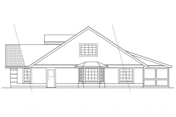 Southwest House Plan - Banyon 11-004 - Right Elevation