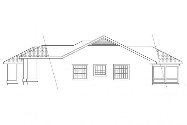 Southwest House Plan - Daytona 11-034 - Right Elevation