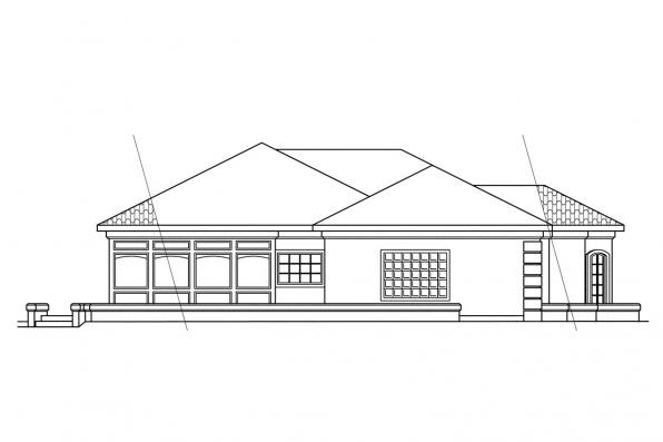 Southwest House Plan - Glenridge 10-053 - Left Elevation
