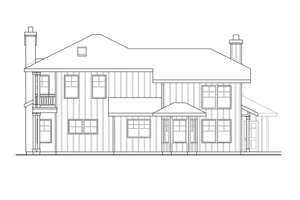 Southwest House Plan - Hazleton 30-304 - Right Elevation
