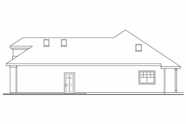 Southwest House Plan - Lindgren 11-122 - Right Elevation