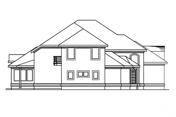Southwest House Plan - Lucardo 30-181 - Left Elevation