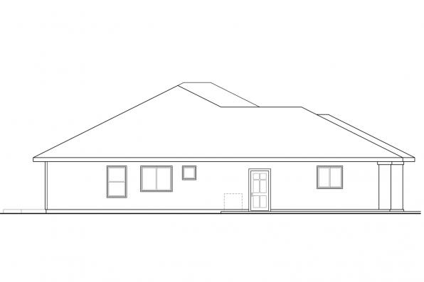 Southwest House Plan - Mendocino 30-681 - Left Elevation