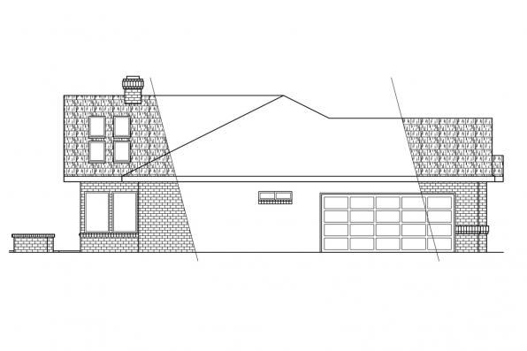 Southwest House Plan - Nueces 10-209 - Left Elevation