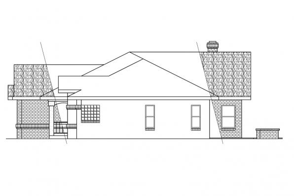 Southwest House Plan - Nueces 10-209 - Right Elevation