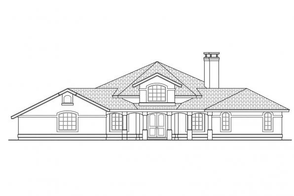 Southwest House Plan - Oakland 10-037 - Front Elevation