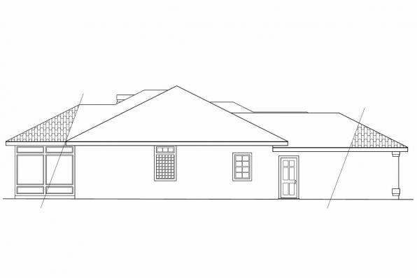 Southwest House Plan - Plainview 11-079 - Left Elevation