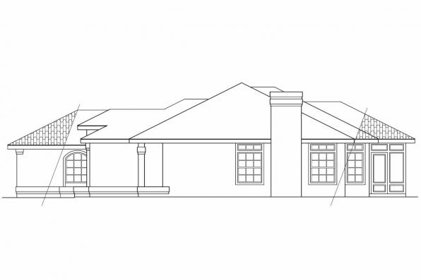 Southwest House Plan - Plainview 11-079 - Right Elevation
