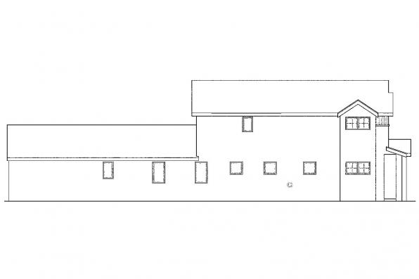 Southwest House Plan - Rock Creek 30-821 - Left Elevation