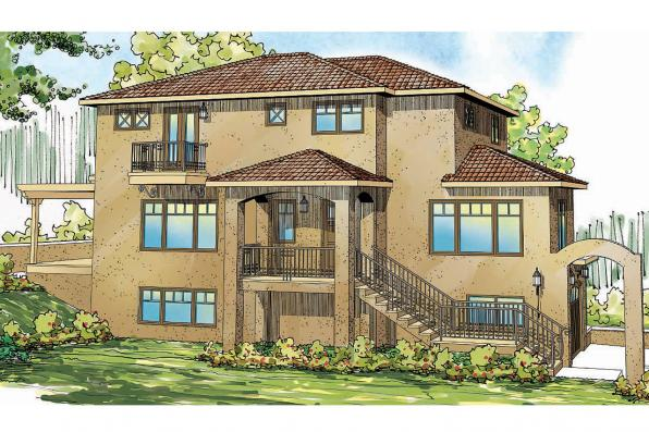 Southwest House Plan - Santa Rosa 30-800 - Front Elevation