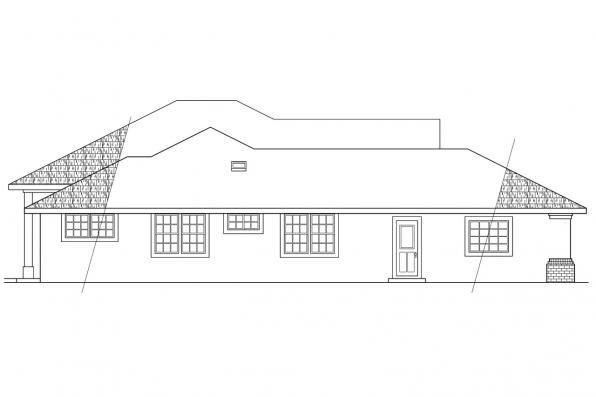 Southwest House Plan - St. Augustine 10-302 - Left Elevation