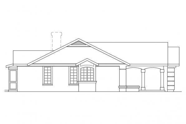 Spanish Style House Plan - Catalina 11-002 - Left Elevation