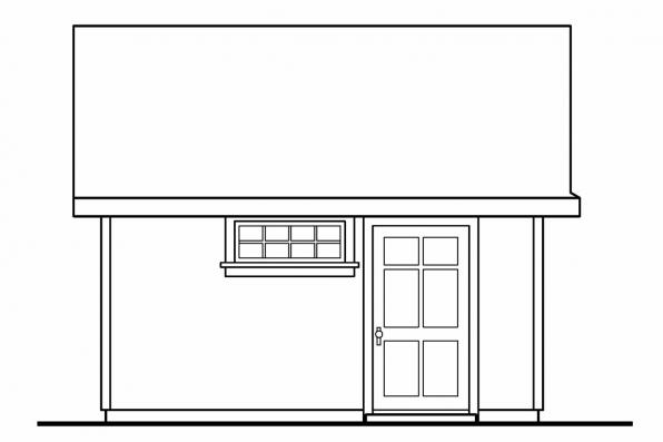 Storage Shed Plan 20-031 - Left Elevation
