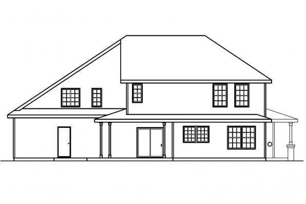 Three Bedroom House Plan - Arundel 30-200 - Rear Elevation