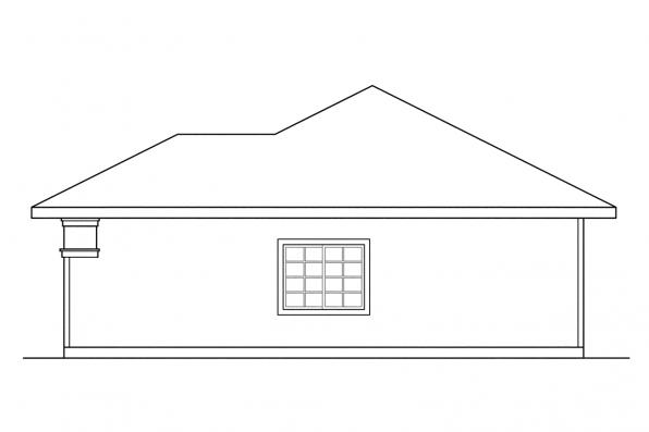 Three Car Garage Plan 20-011 - Right Elevation