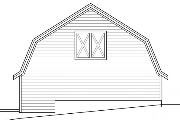 Three Car Garage Plan 20-142 - Right Elevation