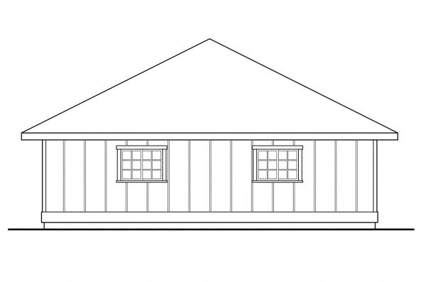 Three Car Garage Plan 20-050 - Right Elevation