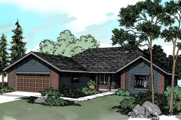 Traditional House Plan - Eldon 30-076 - Front Elevation
