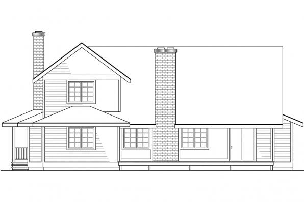 Traditional Home Plan - Columbia 10-009 - Rear Elevation