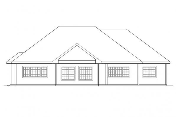 Traditional Home Plan - Marcus 30-039 - Rear Elevation