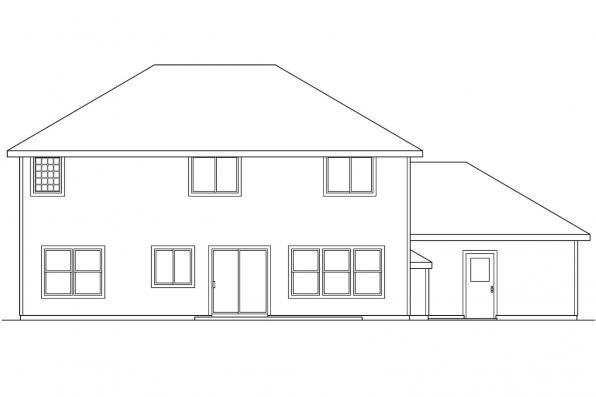 Country House Plan - Westhaven 30-173 - Rear Elevation