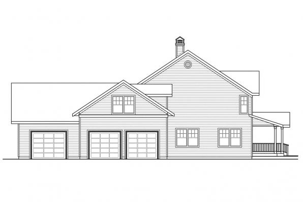 Traditional House Plan - Ambrosia 30-752 - Left Elevation