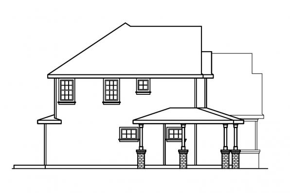 Traditional House Plan - Arundel 30-200 - Left Elevation