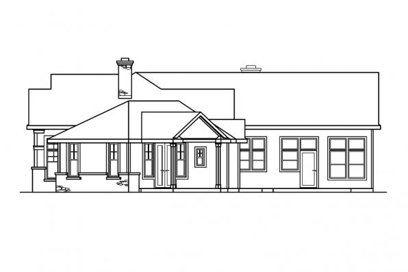 Traditional House Plan - Bellewood 30-292 - Right Elevation