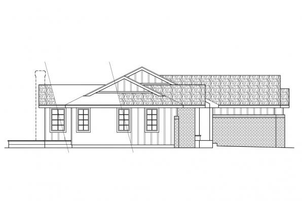 Traditional House Plan - Benton 10-048 - Left Elevation