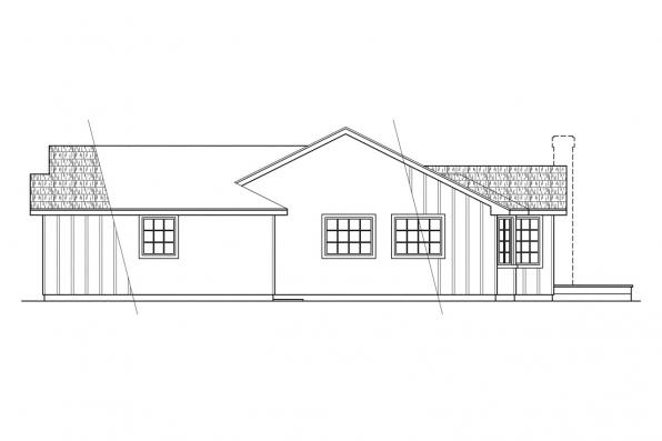 Traditional House Plan - Benton 10-048 - Right Elevation
