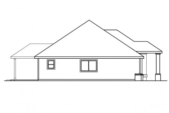 Traditional House Plan - Brennon 30-359 - Left Elevation