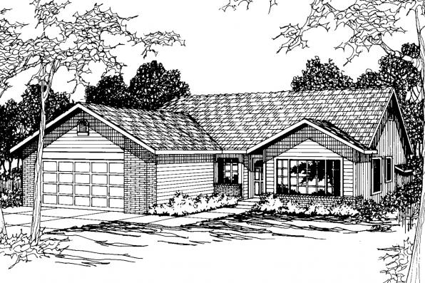 Traditional House Plan - Briggsdale 30-084 - Front Elevation