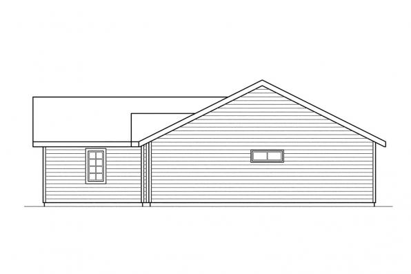 Traditional House Plan - Burnett 30-061 - Right Elevation
