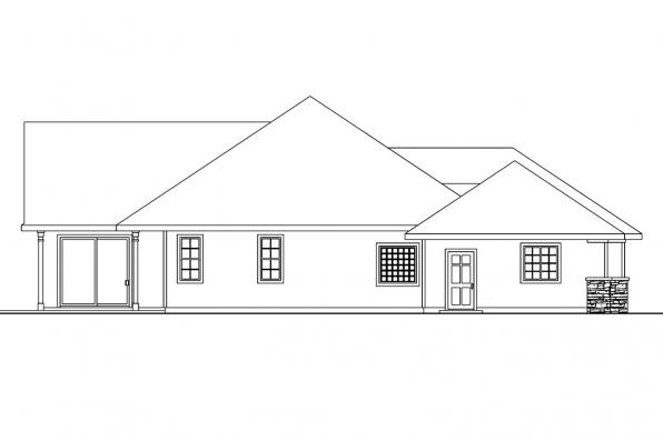 Traditional House Plan - Carson 30-670 - Left Elevation