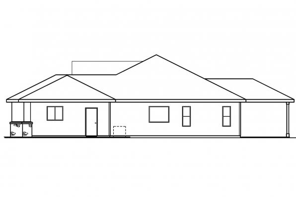 Traditional House Plan - Clearfield 30-318 - Right Elevation