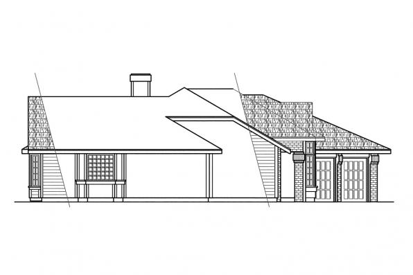 Traditional House Plan - Cleargrove 10-132 - Left Elevation