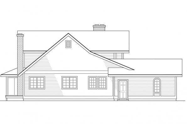 Traditional House Plan - Columbia 10-009 - Left Elevation