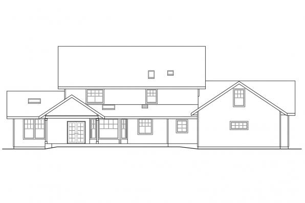 Traditional House Plan - Eganville 30-428 - Rear Elevation