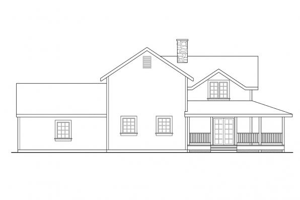 Traditional House Plan - Eldora 41-005 - Left Elevation