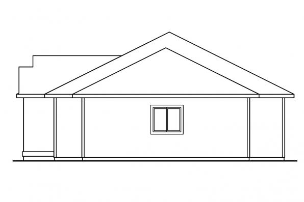 Traditional House Plan - Elliot 30-278 - Right Elevation