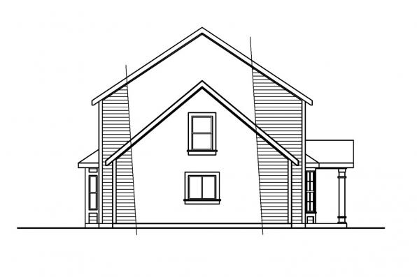 Traditional House Plan - Ellsworth 30-222 - Left Elevation