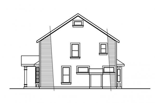 Traditional House Plan - Ellsworth 30-222 - Right Elevation