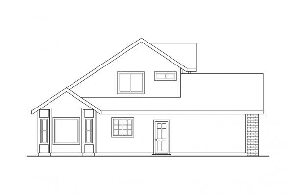 Traditional House Plan - Everett 30-176 - Left Elevation