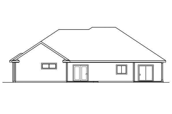 Traditional House Plan - Finley 30-364 - Rear Elevation
