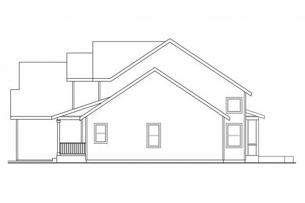 Traditional House Plan - Glendale 30-750 - Right Elevation